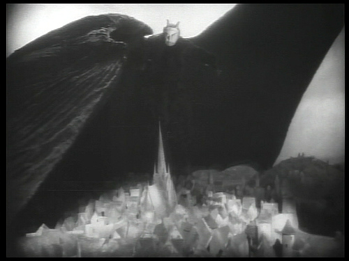 Emil Jannings at the devil in Faust