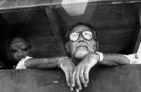 Sam Peckinpah watches on