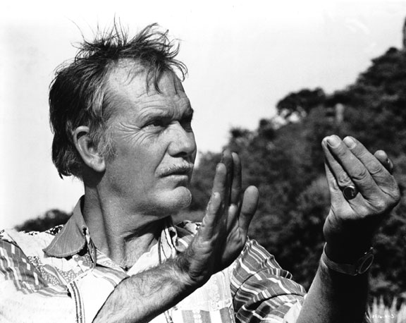 Sam Peckinpah on location