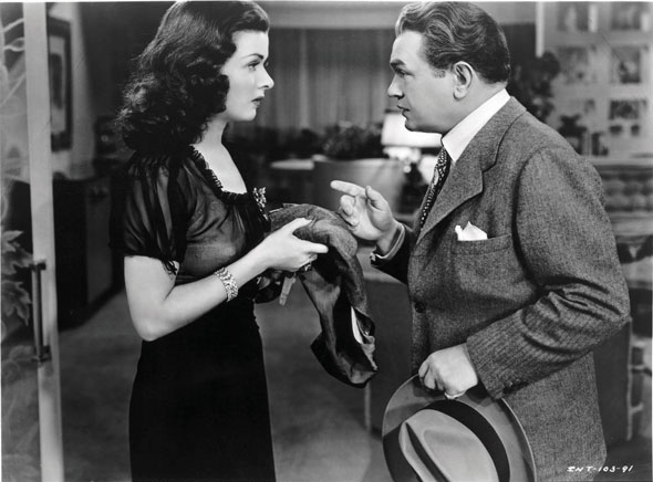 """Joan Bennett and Edward G. Robinson in """"The Woman in the Window"""